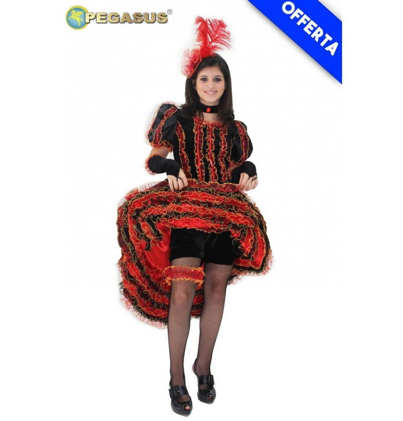 COSTUME CAN CAN ROSSO