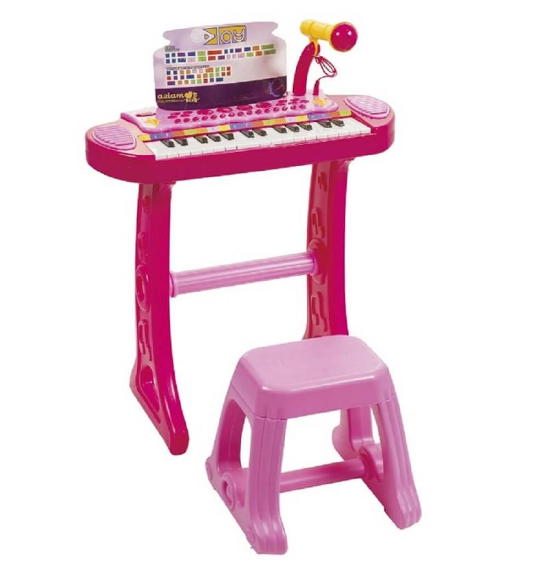 PIANOLA CON SGABELLO ROSA