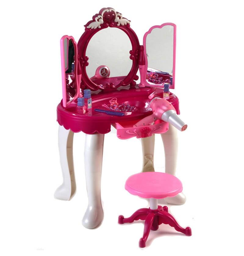 Specchiera con sgabello Rosa