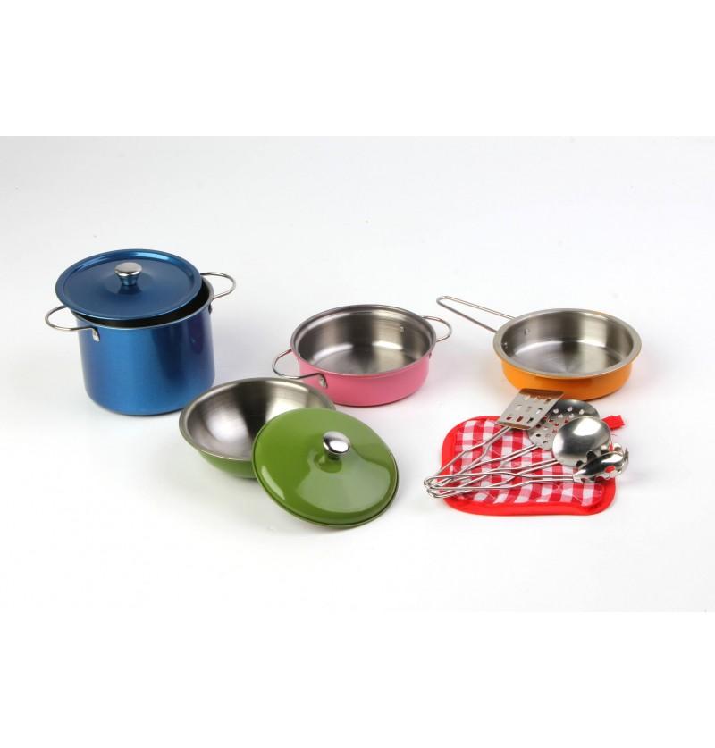 Set Pentole Metallo Colorate