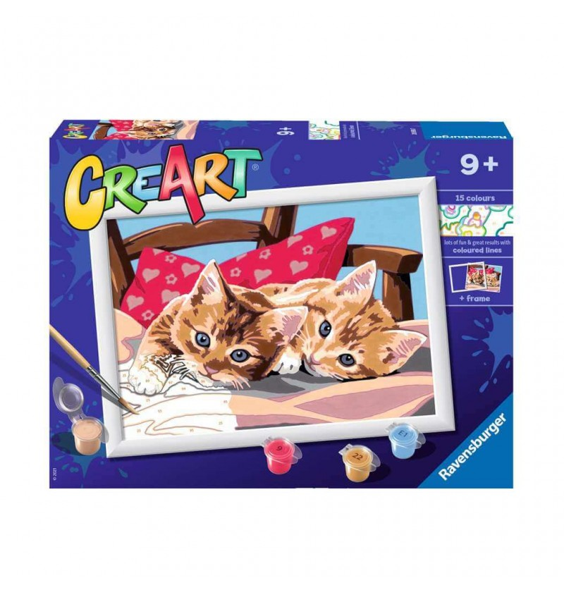 CreArt Gattini su Cuscino