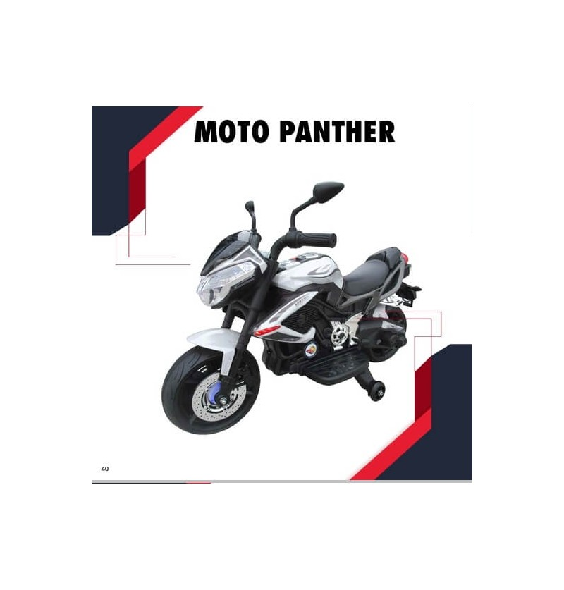 Moto Panther 12 volt bianca
