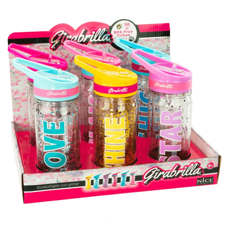 Eco Bottiglia Con Glitter