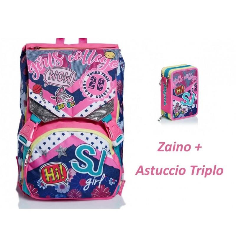 Zaino + Astuccio Triplo Seven