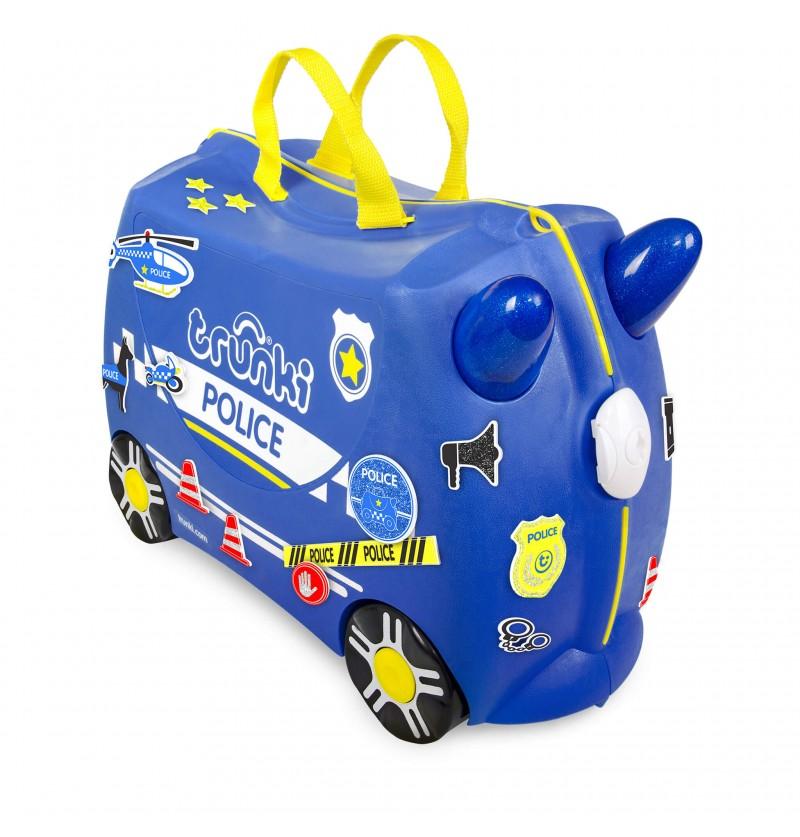 Valigia Percy Police Car Blue