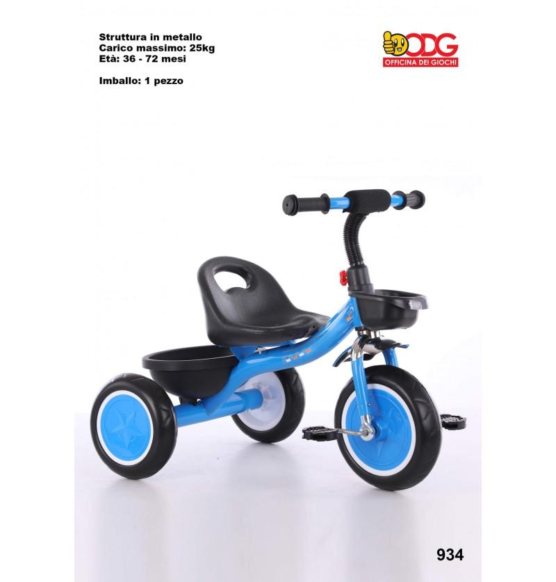 Triciclo in Metallo Blu