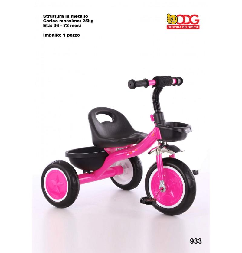 Triciclo in Metallo Rosa