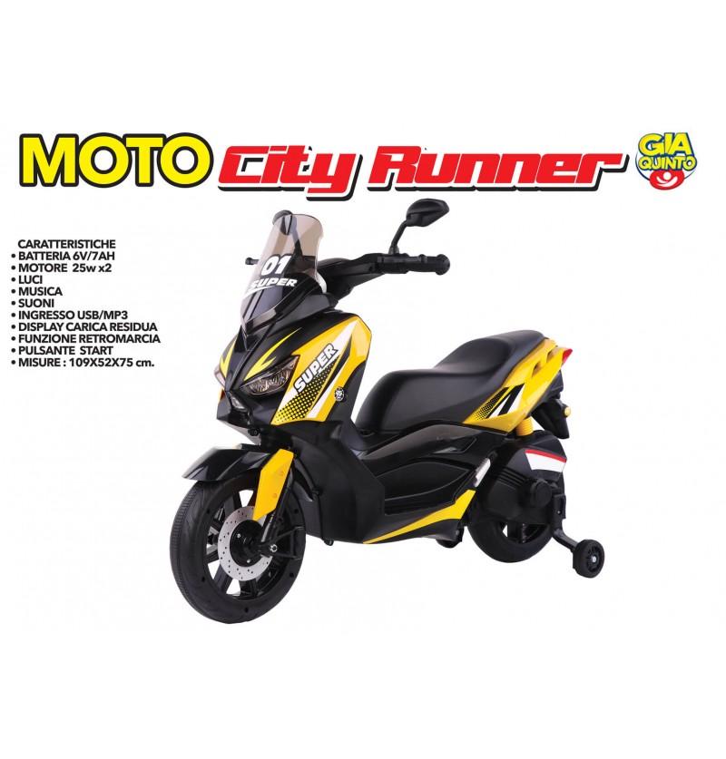 Moto Runner Gialla 12 volt