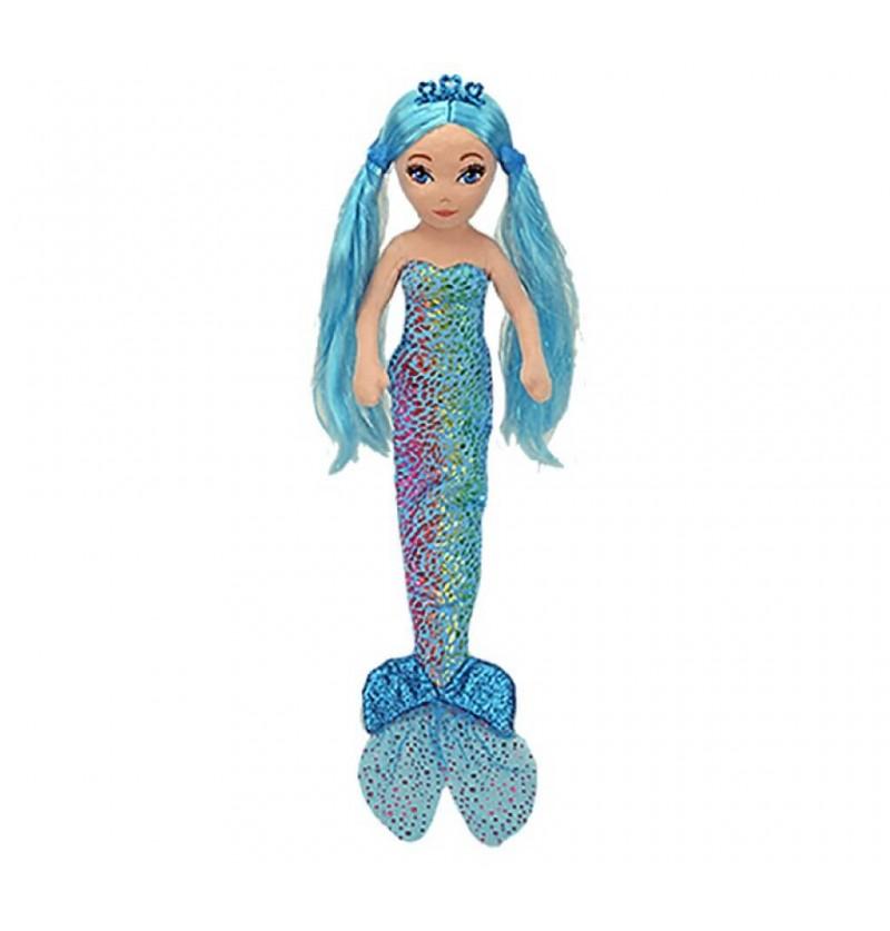 Sirena Peluche cm 33 Blu