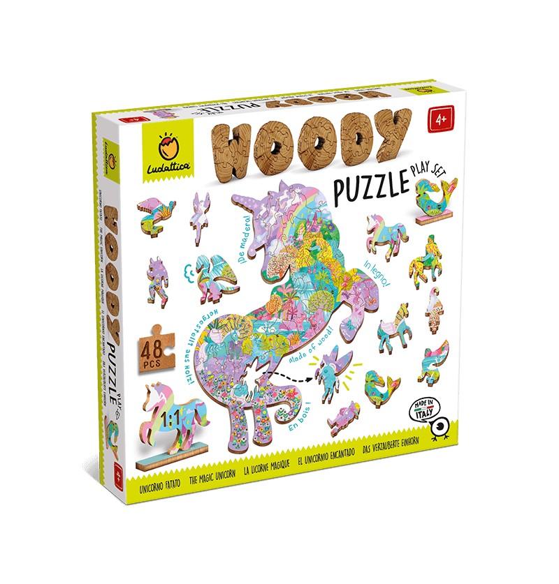 Woody Puzzle Unicorni